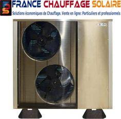 Vente pompes à chaleur monobloc 55° pour le chauffage.  6 à 31 kW. La solution pour les maisons avec plancher chauffant hydraulique basse température et ventilos convecteurs