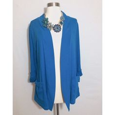 Cobalt Blue Cardigan Beautiful cobalt blue cardigan. Size Large from Belk. No stains or rips. Worn a few times. Non smoking environment. Kim Rogers. Runs true to size. Pockets- 3/4 sleeve with adorable buttons Kim Rogers Sweaters Cardigans