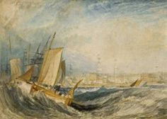 """Deal"" (circa 1826 to 1828) Joseph Mallord William Turner (1775 to 1851)"