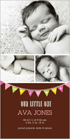 Welcome Banner Girl Birth Announcement
