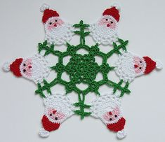 ~ ~ * Note to Self- SEE JUDITH K JAMES DOILY BOARD 400+ pins.*  ~ ~         Christmas  Santa Doily