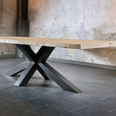 Gloria - Trunk Table | Tables | Living Room | The stylish Gloria Trunk table will be a stunning addition to a design driven home. Its solid oak top and rustic metal legs give it its impressive look. The trunk is available in 2 sizes, ideal for finding the perfect fit for your home.