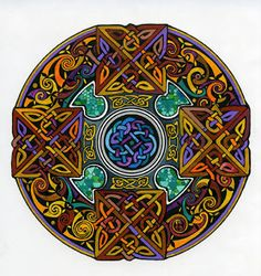 I've been taken recently by the ancient Celtic practice of honoring an Advent that is really the 40 days before Christmas - an early paral. Celtic Mandala, Mandala Art, Celtic Patterns, Celtic Designs, Design Celta, Celtic Symbols, Celtic Knots, Alchemy Symbols, Celtic Images