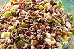 AppleCranberry Salad Kraft Recipes, Candied Walnut Salad with Apple Poppy Seed Vinaigrette, cranberry salad. Kraft Foods, Kraft Recipes, Apple Cranberry Salad, Cranberry Salad Recipes, Apple Salad, Red Apple, Candied Walnuts For Salad, Toasted Pecans, Cooking Recipes