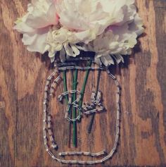 Diy Mason Jar String Art Gift
