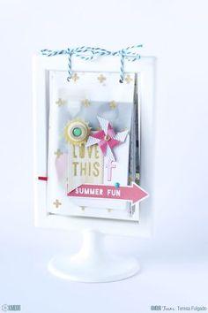 Mini álbum Summer Fun | Kimidori | Bloglovin' Scrapbook Cover, Mini Scrapbook Albums, Scrapbook Paper Crafts, Diy Scrapbook, Crate Paper, Marco Ikea, Ikea Picture Frame, Instax Mini Album, Diy Inspiration