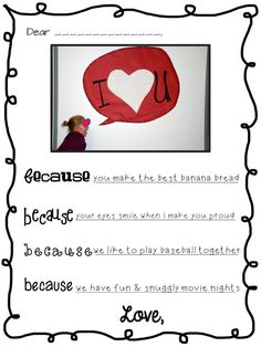 Valentine Note Freebie writing paper and sample