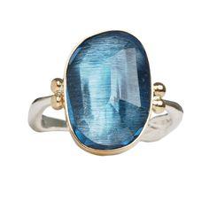 ROSECUT LONDON BLUE RING   Emily Amey Jewelry