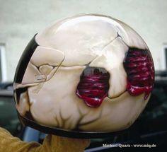 Custom paint / Airbrush by Michael Quarz. Acrylics on a motorcycle helmet.