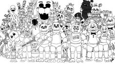 fnaf coloring pages nightmare - Google Search