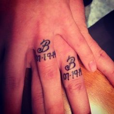 couples wedding ring tattoos