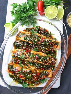 UGNSBAKAD LAX MED ASIATISKA SMAKER | zofias_kok Clean Recipes, Easy Dinner Recipes, Cooking Recipes, Healthy Snacks, Healthy Eating, Vegetarian Recipes, Healthy Recipes, Salmon Recipes, No Cook Meals