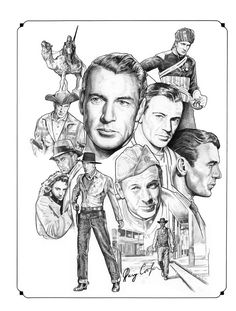Gary Cooper by NachoCastro on DeviantArt Cool Pencil Drawings, Cartoon Drawings, Drawing Sketches, Gary Cooper, Star Illustration, Illustration Pictures, Hollywood Stars, Classic Hollywood, Cinema Tv