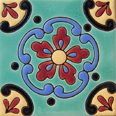 "Old world relief tiles are highly decorative. They are fabricated by Rustica House in Mexico and often used for kitchen backsplash and stair risers. Relief Tile ""Torreón"" by Rustica House. #myRustica"