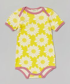 Love this Yellow Sunflower Organic Bodysuit - Infant by zebi on #zulily! #zulilyfinds