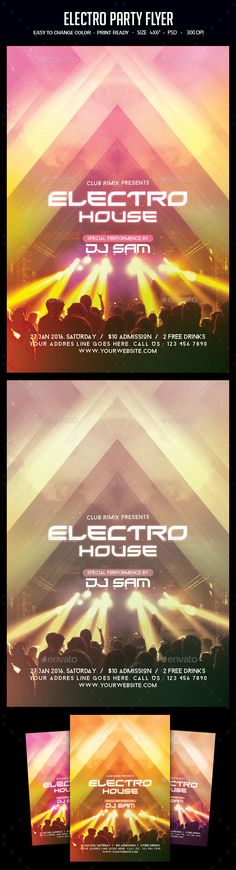 Electro Party Flyer Template PSD. Download here: https://graphicriver.net/item/electro-party-flyer/17029664?ref=ksioks