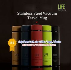 500ml Fashional Stainless Steel Travel Mug Thermos Vacuum Flask Cup Bottle Gift. Fashional and silm design, leak-proof, convenient to put it in your bag. 1 x Stainless Steel Travel Mug. Anti-skip body, no fingerprint left on the cup body. | eBay!