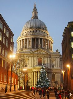 London at Christmas St Paul's. England, UK. Beautiful! Click through for more on London at Christmas.