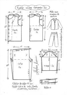 Vestido com decote quadrado e babado na barra T Shirt Sewing Pattern, Pajama Pattern, Pattern Drafting, Dress Sewing Patterns, Pants Pattern, Clothing Patterns, Sewing Clothes Women, Night Suit, Fashion Sewing