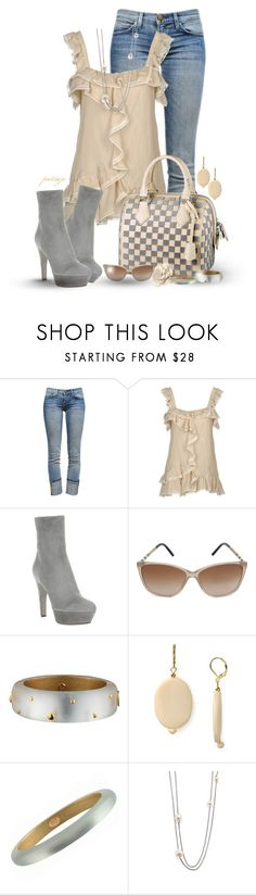 """""""Party Lines"""" by rockreborn ❤ liked on Polyvore featuring Current/Elliott, RED Valentino, Sergio Rossi, Louis Vuitton, Burberry, Christian Louboutin, Kenneth Jay Lane, Alexis Bittar, David Yurman and MOOD"""