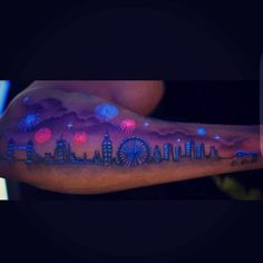 101 Amazing Glow In The Dark Tattoos You Have Never Seen Before! | Outsons | Men's Fashion Tips And Style Guide For 2020 Glow Tattoo, Uv Tattoo, Alien Tattoo, Epic Tattoo, Tattoo You, Dark Tattoos For Men, Black Tattoos, Tattoos For Guys, Uv Ink Tattoos
