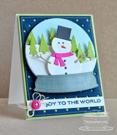 ...just a little something....: A Bright and Cheery Christmas with MFT's Snow Globe Die-namics