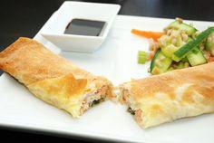 Spring rolls with salmon / Forårsruller med laks