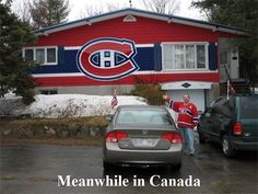 Meanwhile in Canada. Montreal Canadien fans getting into playoffs Hockey Games, Hockey Mom, Ice Hockey, Hockey Stuff, Hockey Puck, Montreal Canadiens, Canada Memes, Canada Eh, 2013 Stanley Cup
