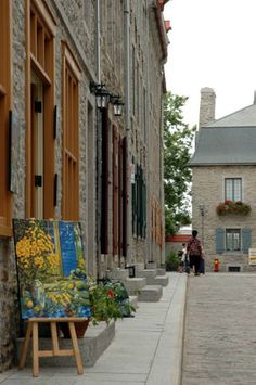 The old quarter of Quebec City (Le Vieux Québec) was declared a world heritage site by UNESCO in 1985.