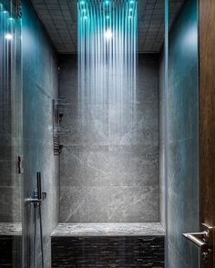 """37.7k Likes, 485 Comments - Interior Design & Home Decor (@inspire_me_home_decor) on Instagram: """"Yes or No to a rain shower in your bathroom?? Stunning rain shower with lighting effect! By AV…"""""""