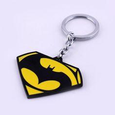 Crazy hot selling movie ker chains superhero Batman v Superman logo keyring for men jewelry Batman Jewelry, Cartoon Template, Batman Vs Superman, Clay Design, Antique Silver, Superhero, Moulding, Style, Chains