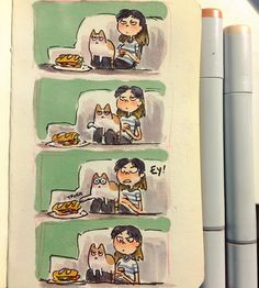 My cat does this ALL THE TIME 😠 ...its been hard getting back into drawing, so…