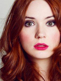 Karen Gillan: redhead with hazel eyes