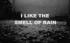 I always feel crazy when I think this to myself.  If you live in Pittsburgh you'd best like the smell of rain!