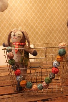 Balls of yarn garland... cute on the front door