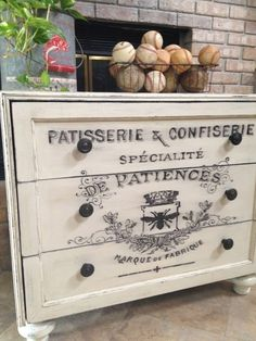 DIY Home Decor •• French Flair! •• Great Ideas & Tutorials. Including this french sideboard from 'it's just me'.