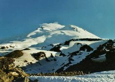 Elbrus has two summits, the west summit is the highest: 5642m, the east summit is just a bit lower: 5621m  Name:The local (Balkar) name: 'Mingi-Tau' means: 'Resembling a thousand mountains', because Elbrus is so big...