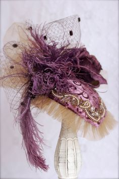 Victorian Hat by GussiedUpGal on Etsy,