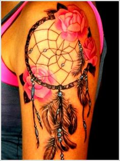 150 Most Popular Dreamcatcher Tattoos And Their Meanings cool Check more at http://fabulousdesign.net/most-popular-dreamcatcher-tattoos/