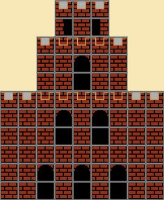 Super Mario World, Super Mario Bros, Super Mario Coloring Pages, Lego Mosaic, Small Castles, Diorama, Castle Background, Mario Bros., Mario Brothers