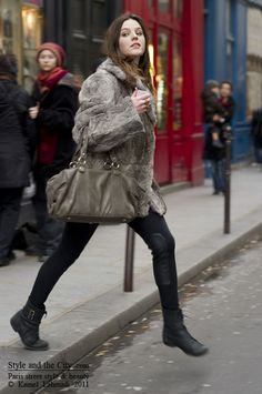 Style and the City Fashion Week, Winter Fashion, Street Style, Fur Coats, Paris Street, Rabbit Fur, Fur Jacket, Plush, Winter Jackets