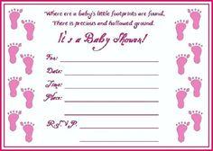 Baby Shower Invitations Blank Printable