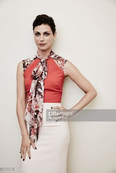 Actress Morena Baccarin from Fox's 'Gotham' poses in the Getty Images Portrait Studio powered by Samsung Galaxy at the 2015 Summer TCA's at The Beverly Hilton Hotel on August 6, 2015 in Beverly Hills, California.