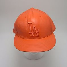 f01c26af938cb LA Dodgers fitted Orange Leather hat American Needle Cooperstown Collection  Sz 8  AmericanNeedle  BaseballCap