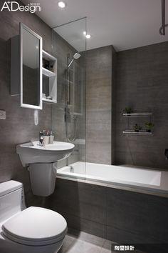 漫遊各大城市,我家就是專屬咖啡館 | 陶璽空間設計_林欣璇_室內設計師 | 愛設計A+Design線上誌 - 室內設計平台 Home Design Decor, Bathroom Interior Design, Interior Design Living Room, House Design, Ensuite Bathrooms, Bathroom Toilets, Grey Bathrooms, Family Bathroom, Small Bathroom