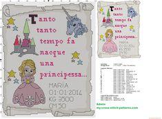 Quadro Nascita Punto Croce La Principessa - 4000x2940 - 5957837