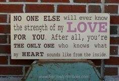 Strength of My Love Word Art Sign  The by barnowlprimitives, $90.00 #lovebop