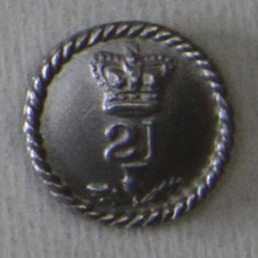 21ST (ROYAL NORTH BRITISH FUSILIERS) REGIMENT OF FOOT, OTHER RANK'S BUTTON.  MAIN ENGAGEMENTS: BLADENSBURG, CAPTURE OF WASHINGTON, GOODLEY WOODS, NEW ORLEANS AND FORT BOYER historicaltwiststore.com