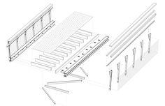 Axonometric of Bridge Deck   Smith Creek Pedestrian Bridge / design/buildLAB