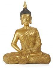 Zittende Boeddha, goud | Wereldwinkels